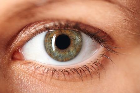 yeux: Macro image de l'oeil humain
