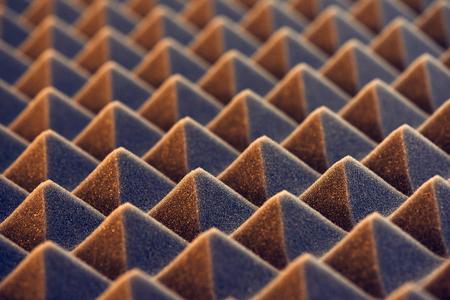 Macro of acoustic foam panel background, toned image Archivio Fotografico