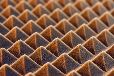 Macro of acoustic foam panel background, toned image Reklamní fotografie