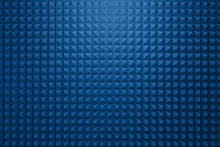 Blue acoustic foam panel background
