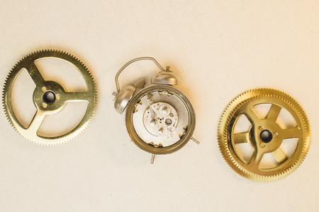 Vintage old clockwork.