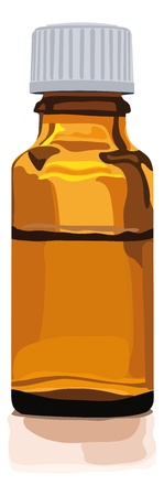 homeopathic: brownglas bottle for medicine, alternative medicine, herbal essences, globuli, homeopathic, pills or other things