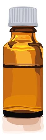 brownglas bottle for medicine, alternative medicine, herbal essences, globuli, homeopathic, pills or other things