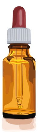 brownglas bottle for medicine, alternative medicine, herbal essences, globuli, homeopathic, pills or other things  Stock Vector - 17475597
