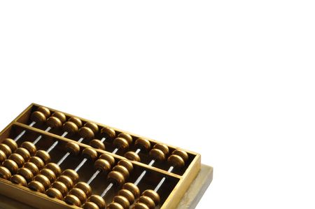 An golden abacus showing number 1628 -- close to pronouciation of always easy to be rich in Cantonese. photo
