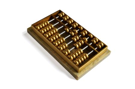 A golden abacus showing number 1628 -- close to pronouciation of always easy to be rich in Cantonese. photo