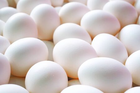 Close up of a pile of eggs