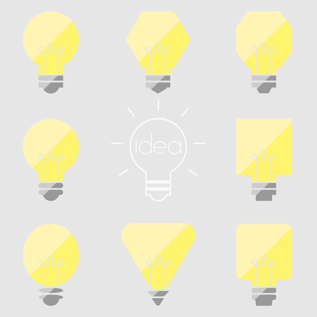 lamp light: idea lamp light bulb Illustration