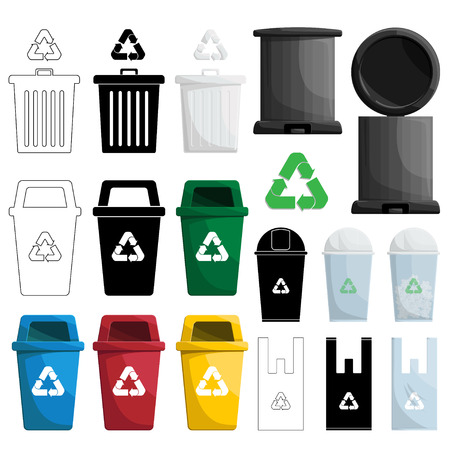 color recycle bin illustration Stock Vector - 59035237