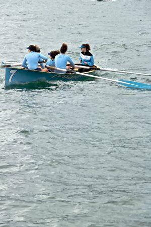 Traditional maritime regatta. Fossamastra crew