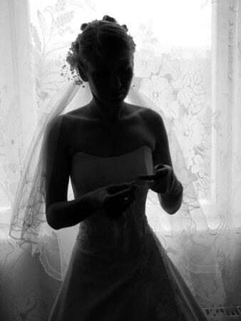 bride at window Stock Photo - 423122