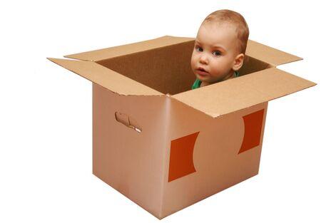 Caja de sorpresa bebé  Foto de archivo - 425068