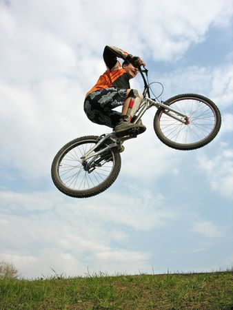 Mountain Biker flying Stock Photo - 424842
