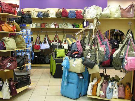 zakken in shop Stockfoto