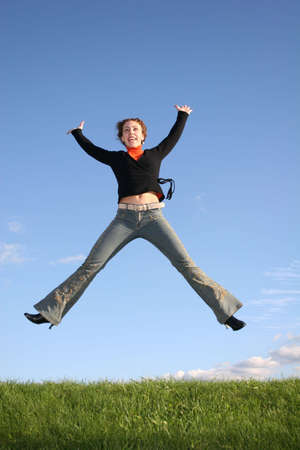 jump girl photo