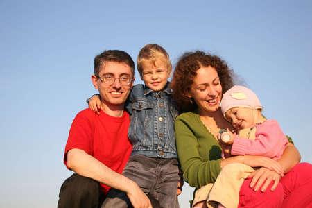 family of four Stock Photo - 810970
