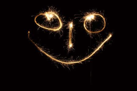 smiley sparkler photo
