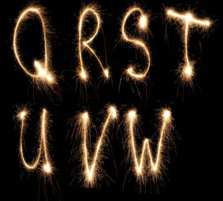 english letters: alphabet sparkler (see other letters in my portfolio)