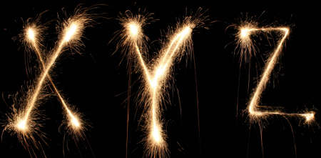alphabet sparkler (see other letters in my portfolio) Stock Photo - 811303