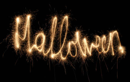 HALLOWEEN sparkler (you can see other words in my portfolio) photo