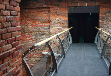 handhold: brick bridge interior