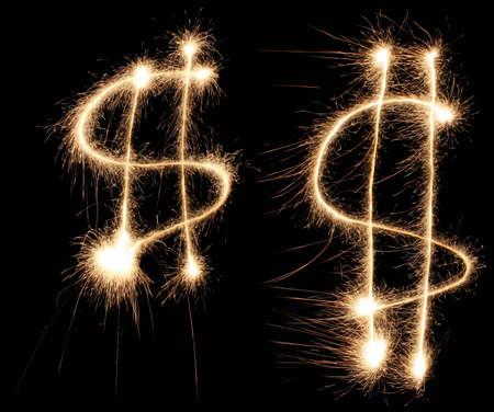christmas profits: dollar sign