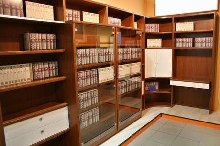 bibliophile: bookcase Stock Photo