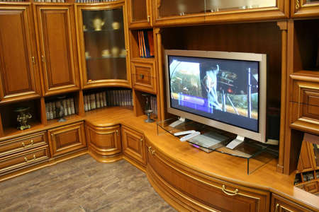 tv and wall furniture Stock Photo - 811385