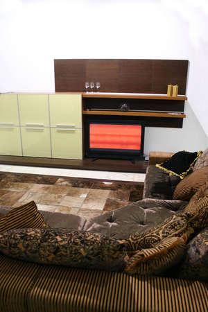 sofa and tv Stock Photo - 811389