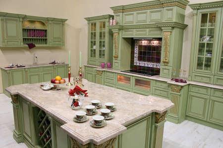 interni casa: cucina di lusso Archivio Fotografico