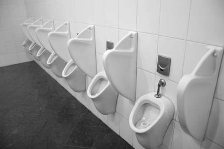 unsanitary: urinal Stock Photo