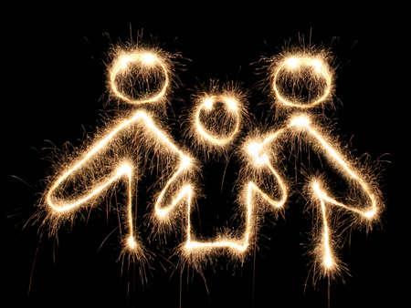 sparkler: family symbol sparkler