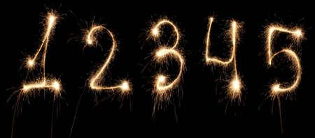 sparkler:  anniversary numbers sparkler