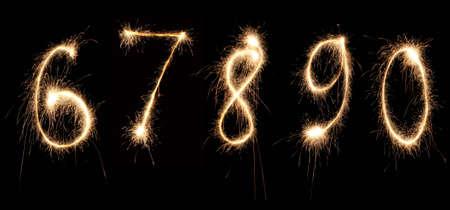 anniversary numbers sparkler 2 photo