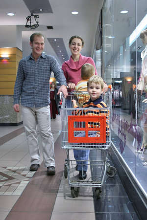 family of four in shop Stock Photo - 900152