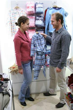 Padres con pijamas para ni�os  Foto de archivo - 900159