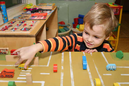 child play in kindergarten Stock Photo