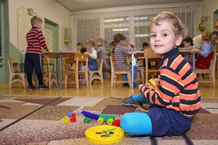 child play in kindergarten Stock Photo