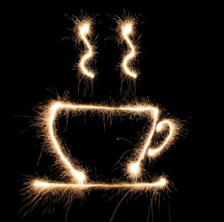 cup cofee sparkler photo