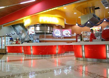 casse-cro�te: Snack-bar Int�rieur  Banque d'images
