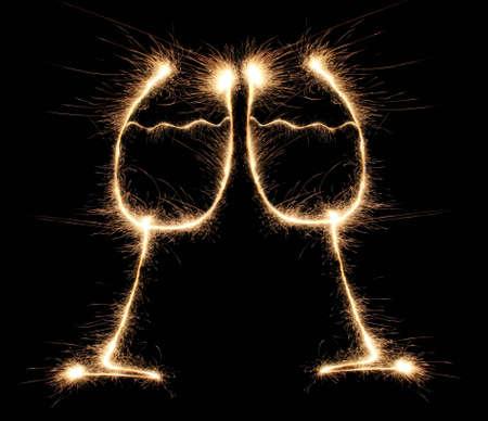 sparklers: chin-chin sparkler