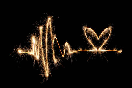 oscillation: wave heart sparkler 2