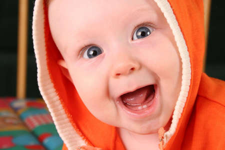 smile baby boy with tooth 2 Stock Photo
