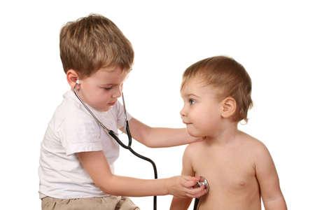 children play doctor photo