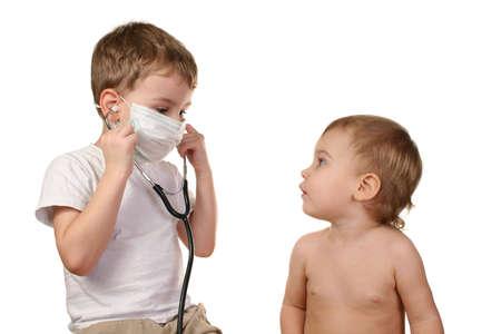 children play doctor 2 photo