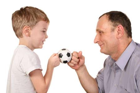 futbol: sfera di calcio del nipote Archivio Fotografico