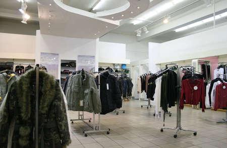departamentos: tienda de ropa  Foto de archivo