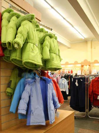 emporium: child jaket in shop Stock Photo