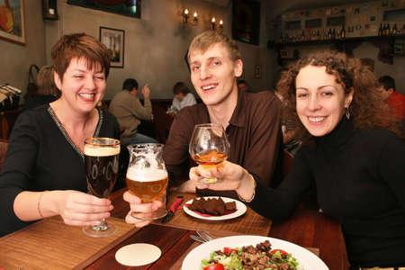 friends in bar photo