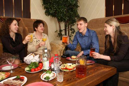 friends in restaurant photo